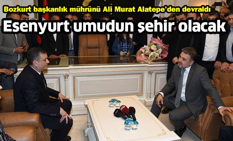 Bozkurt başkanlık mührünü Ali Murat Alatepe'den devraldı