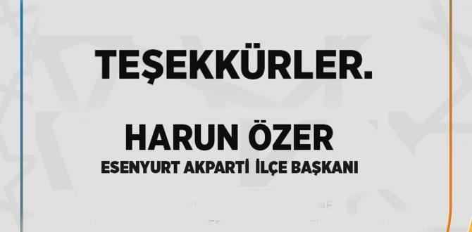 AK PARTİ ESENYURT'TAN TEŞEKKÜR