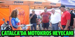 ÇATALCA'DA MOTOKROS HEYECANI YAŞANDI